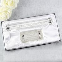 Personalised First Holy Communion Silver Plated Certificate Holder - P0102V25